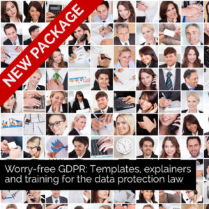 GDPR templates and training course